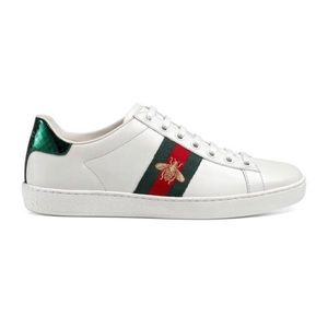 Gucci Stripe Ace Sneaker Embroidered Bee